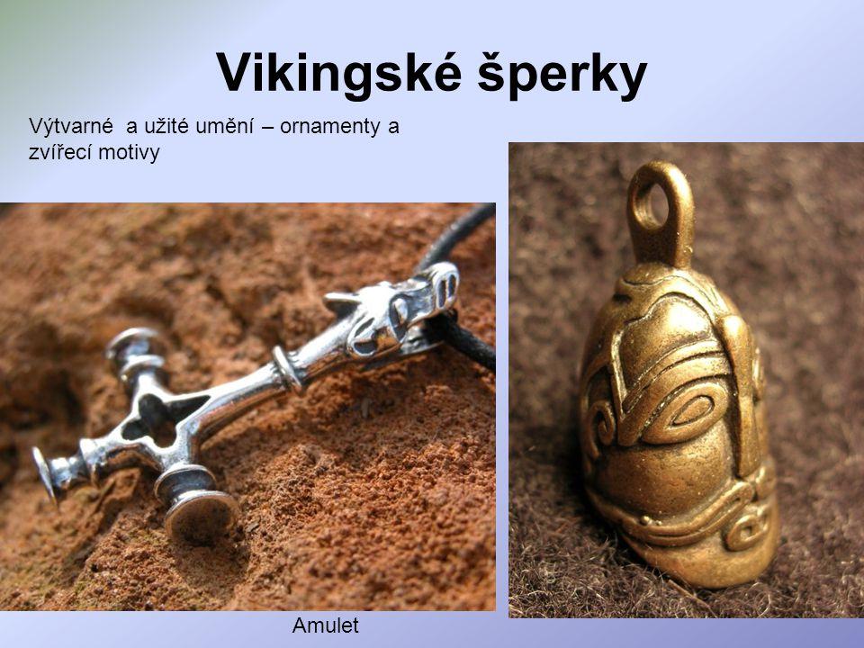 Vikingské šperky Amulet Výtvarné a užité umění – ornamenty a zvířecí motivy
