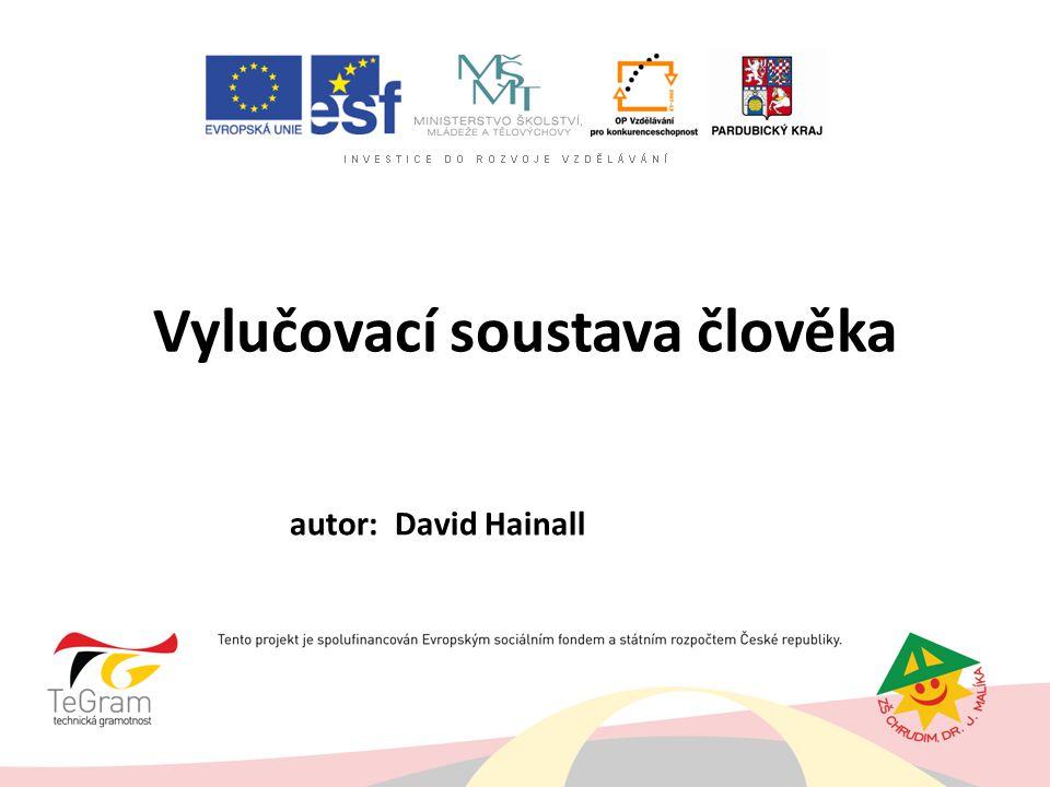 Vylučovací soustava člověka autor: David Hainall