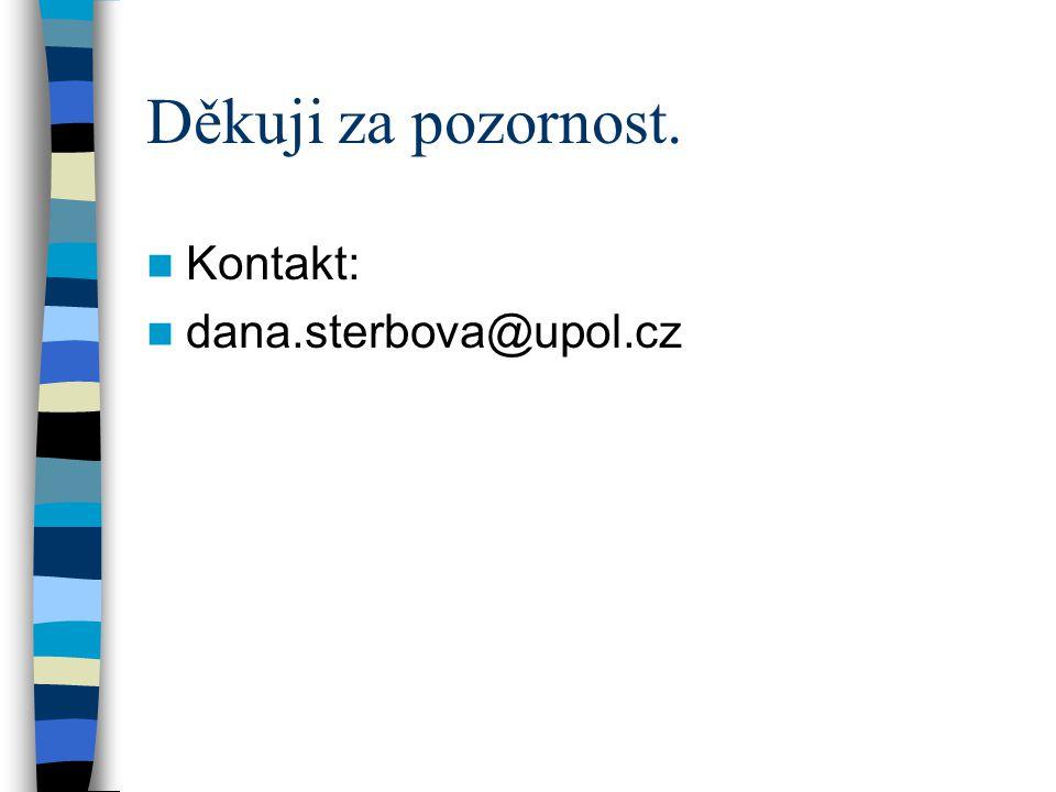 Děkuji za pozornost. Kontakt: dana.sterbova@upol.cz