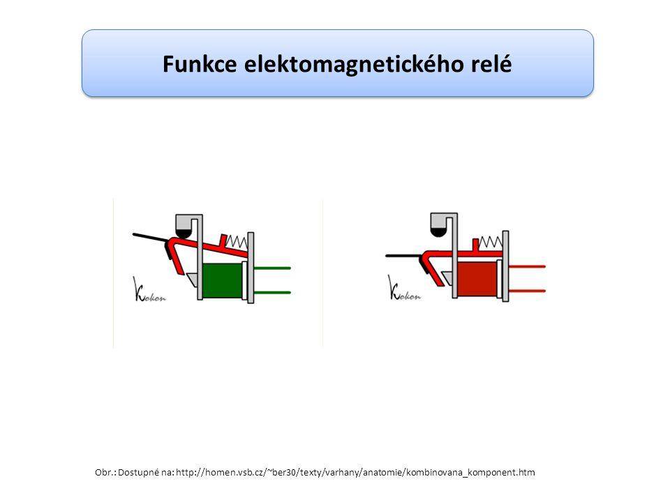 Funkce elektomagnetického relé Obr.: Dostupné na: http://homen.vsb.cz/~ber30/texty/varhany/anatomie/kombinovana_komponent.htm