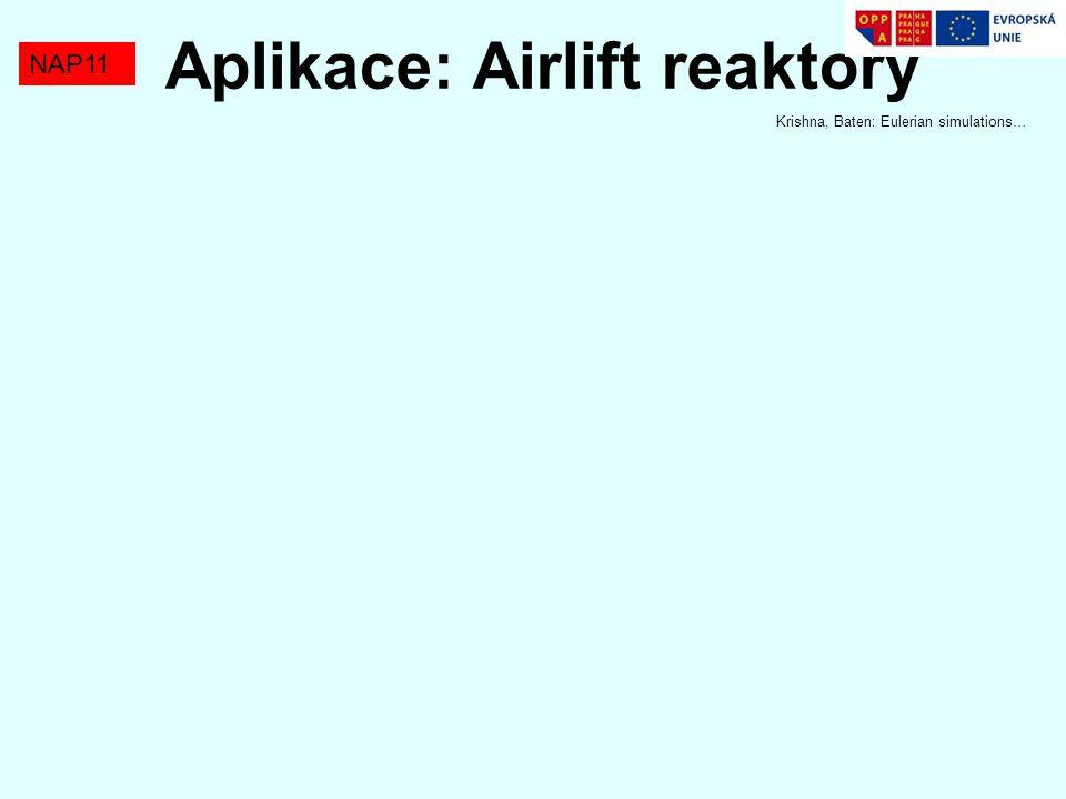 NAP11 Aplikace: Airlift reaktory Krishna, Baten: Eulerian simulations…