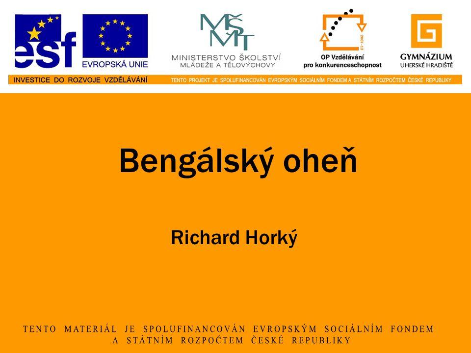 Bengálský oheň Richard Horký