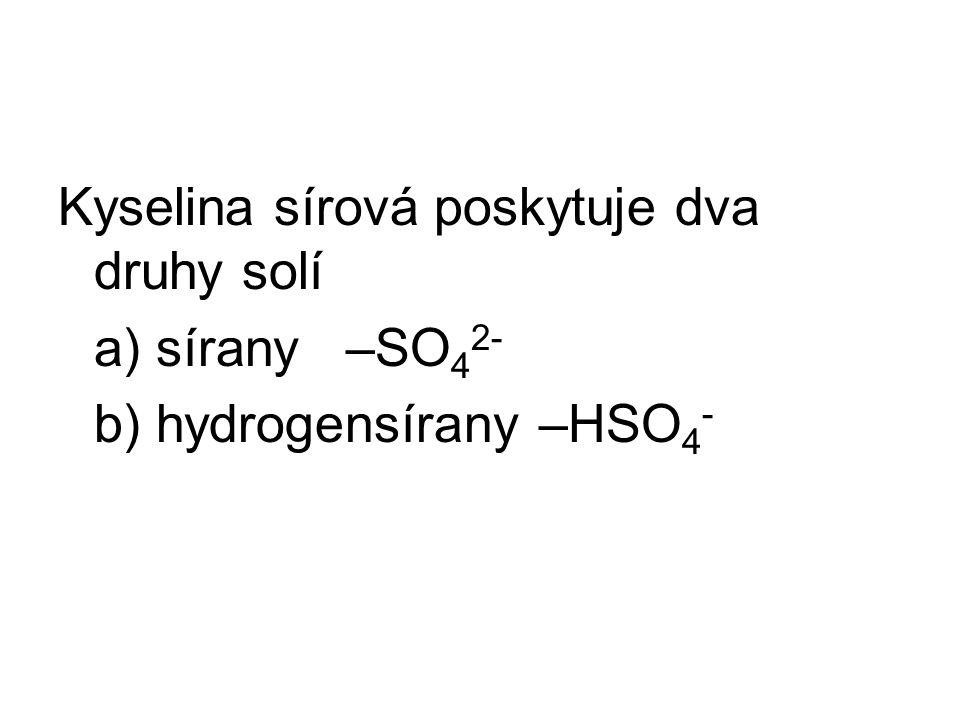 příklad hydrogensíran sodný na prvním místě Na + na druhém místě HSO 4 - vzorec: Na HSO 4 hydrogensíran vápenatý Ca 2+ HSO 4 - vzorec: Ca(HSO 4 ) 2 křížové pravidlo