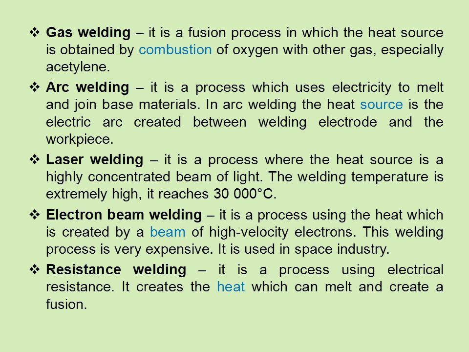 Vocabulary: (to) apply – aplikovat, vynaložit adhesive bonding – lepení arc welding – svařování el.