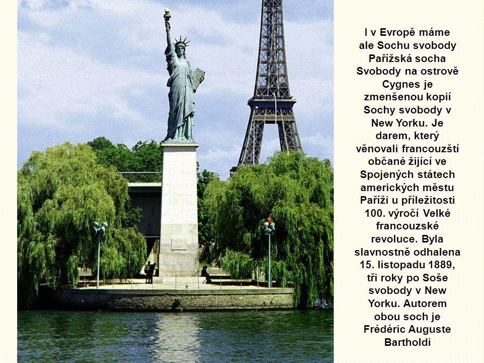 Už déle jak sto let zdraví monumentální Socha svobody z malého skalnatého ostrova, ležícího ve vjezdu do přístavu severoamerické metropole, vplouvajíc