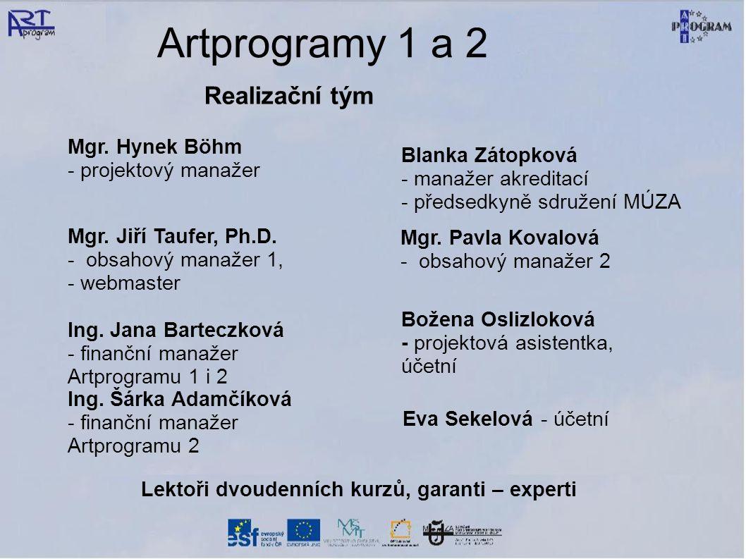 Artprogramy 1 a 2 Realizační tým Mgr.
