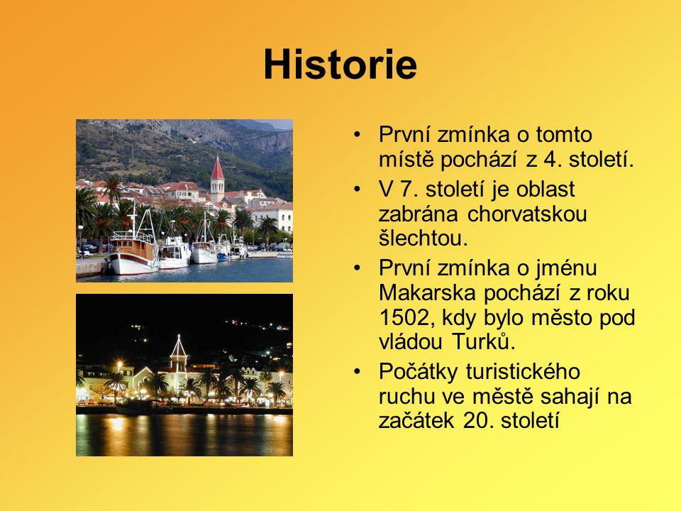 Historie První zmínka o tomto místě pochází z 4. století. V 7. století je oblast zabrána chorvatskou šlechtou. První zmínka o jménu Makarska pochází z
