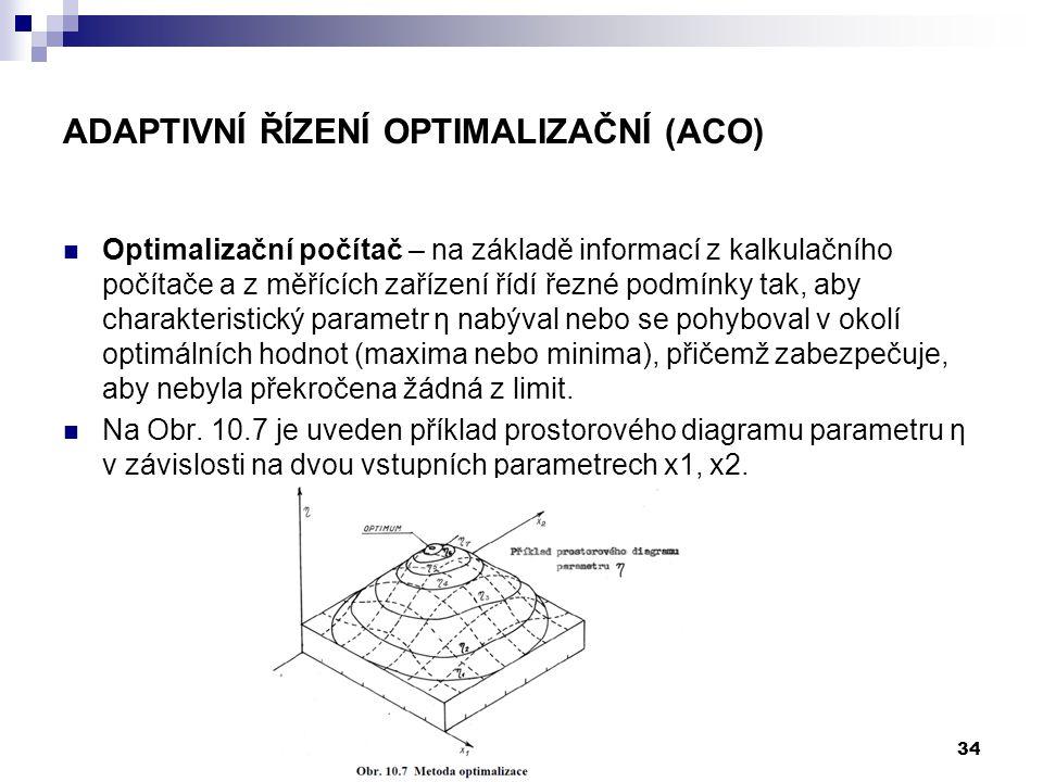 Optimalizační počítač – na základě informací z kalkulačního počítače a z měřících zařízení řídí řezné podmínky tak, aby charakteristický parametr η na