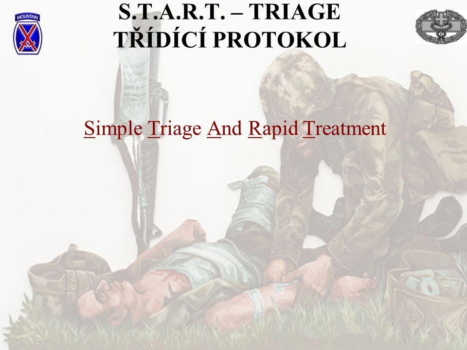 S.T.A.R.T. – TRIAGE TŘÍDÍCÍ PROTOKOL Simple Triage And Rapid Treatment