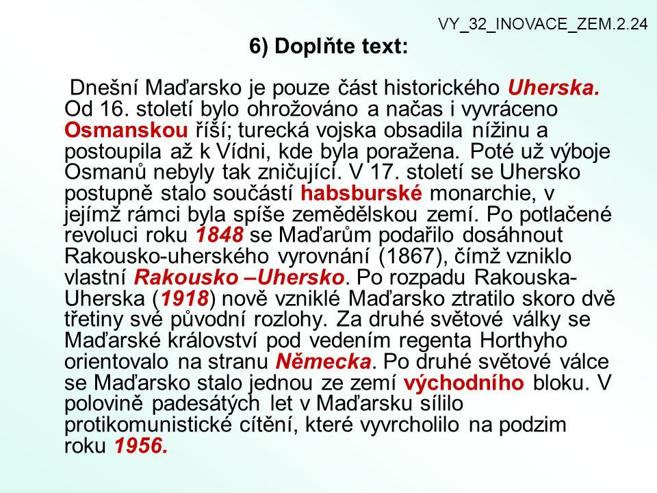 7) Zjistěte kdo byli nebo jsou osobnosti spojené s Maďarskem.