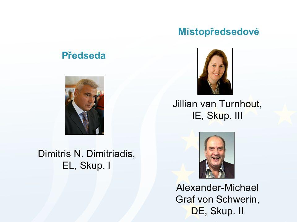 Předseda Místopředsedové Dimitris N. Dimitriadis, EL, Skup. I Jillian van Turnhout, IE, Skup. III Alexander-Michael Graf von Schwerin, DE, Skup. II
