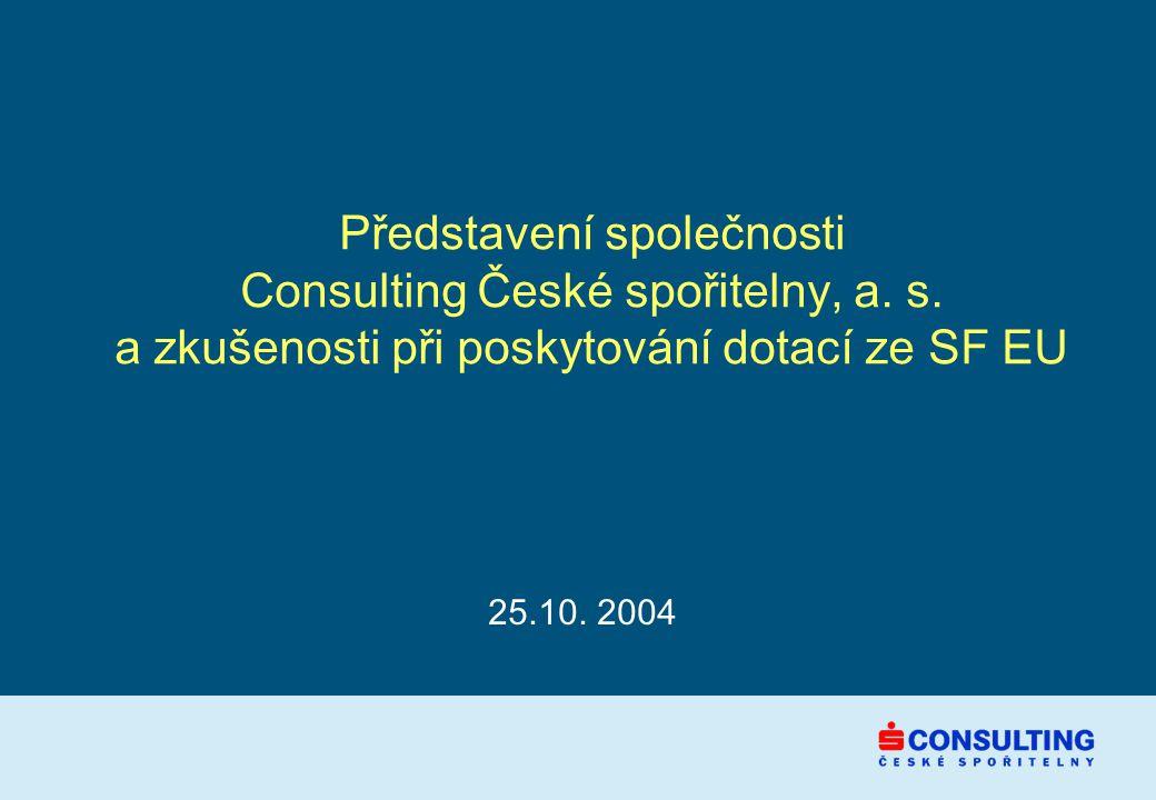 Představení společnosti Consulting České spořitelny, a.
