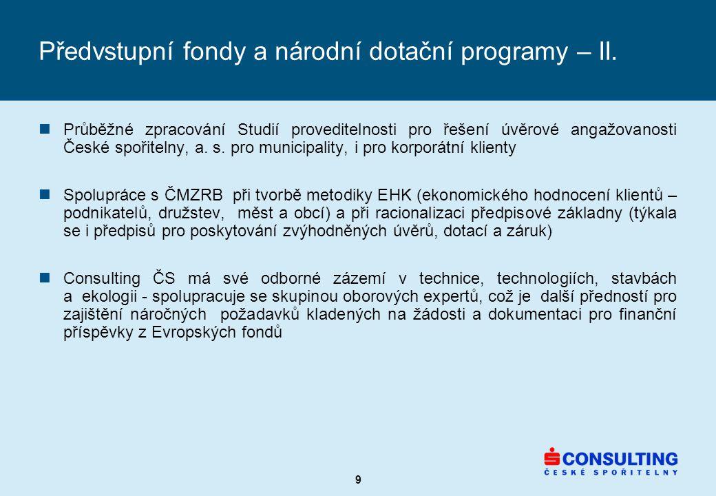 9 Předvstupní fondy a národní dotační programy – II.