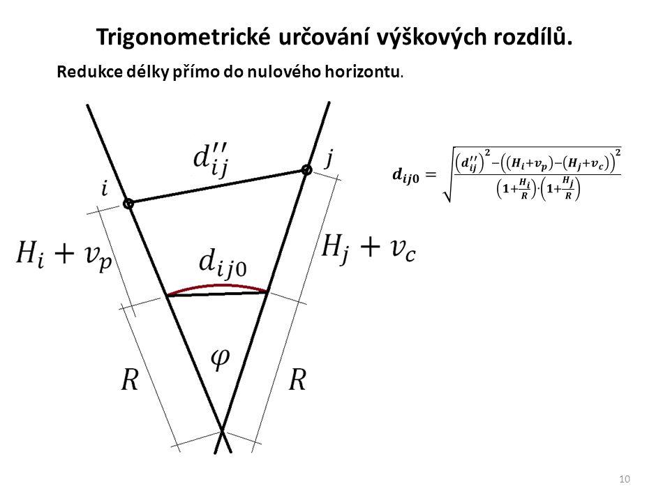 10 Trigonometrické určování výškových rozdílů.