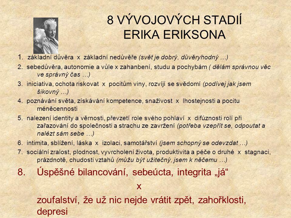8 VÝVOJOVÝCH STADIÍ ERIKA ERIKSONA 1.