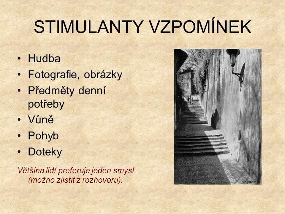 VZPOMÍNAJÍCÍ (typologie dle P.G.
