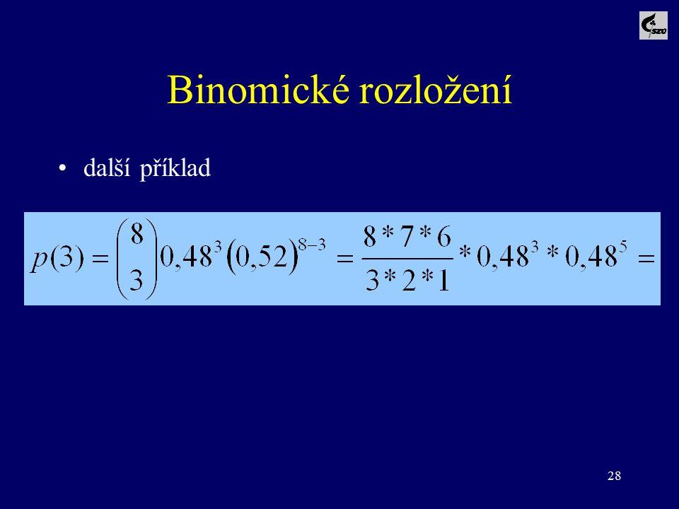 28 Binomické rozložení další příklad