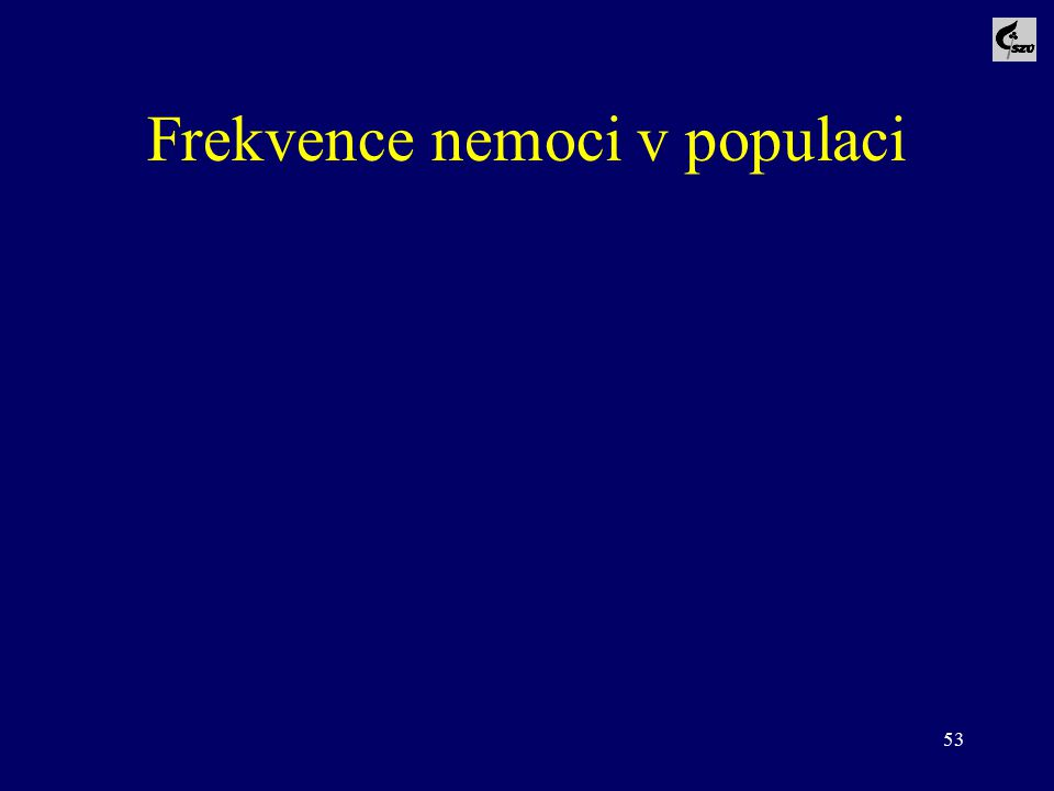 53 Frekvence nemoci v populaci
