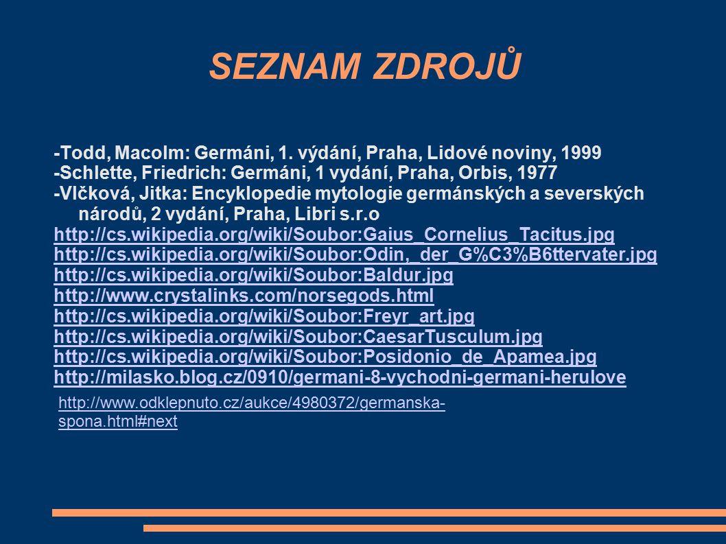 SEZNAM ZDROJŮ -Todd, Macolm: Germáni, 1.