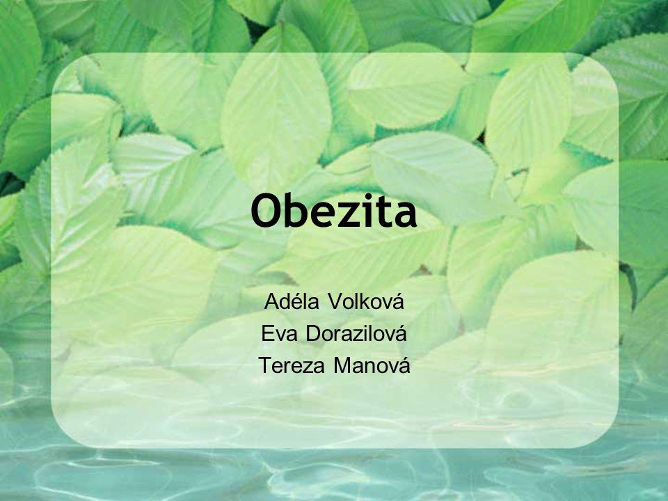 Obezita Adéla Volková Eva Dorazilová Tereza Manová