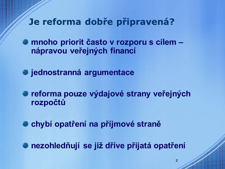 2 Je reforma dobře připravená.