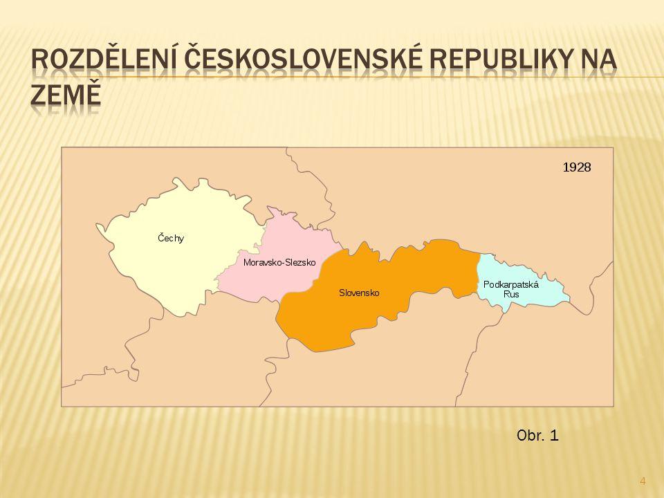  Československý stát byl prohlášen republikou a ústava byla přijata v roce 1920.
