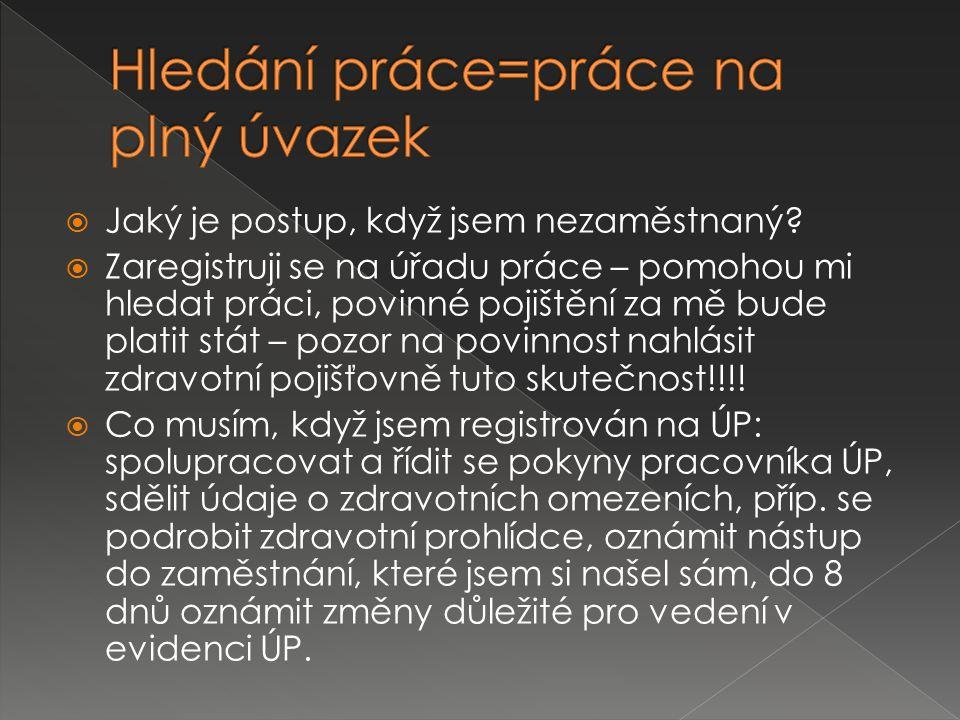  Inzeráty  Internet  Personální agentury  Kontakty přátel a známých  Užitečné odkazy:  www.jobs.cz www.jobs.cz  www.prace.cz www.prace.cz  www.jobpilot.cz www.jobpilot.cz  www.hledampraci.cz/poradna-zamestnani www.hledampraci.cz/poradna-zamestnani