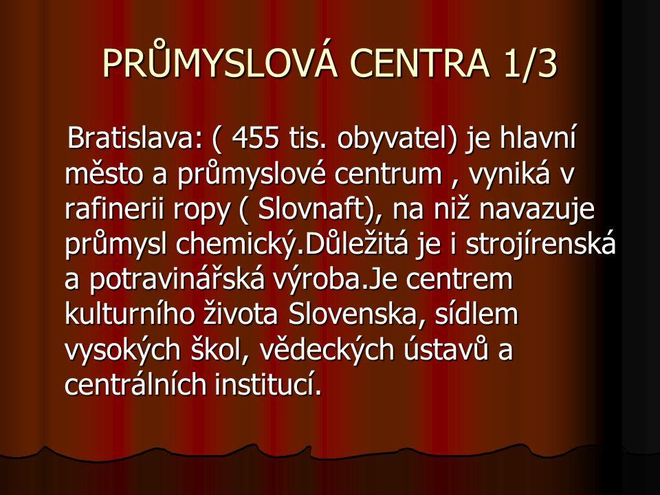 PRŮMYSLOVÁ CENTRA 1/3 Bratislava: ( 455 tis.