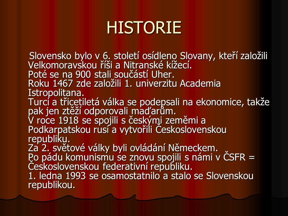 HISTORIE Slovensko bylo v 6.