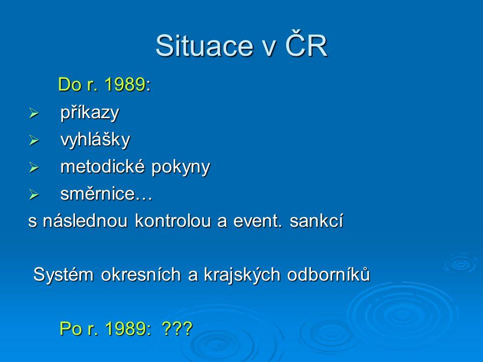 Situace v ČR Do r. 1989: Do r.