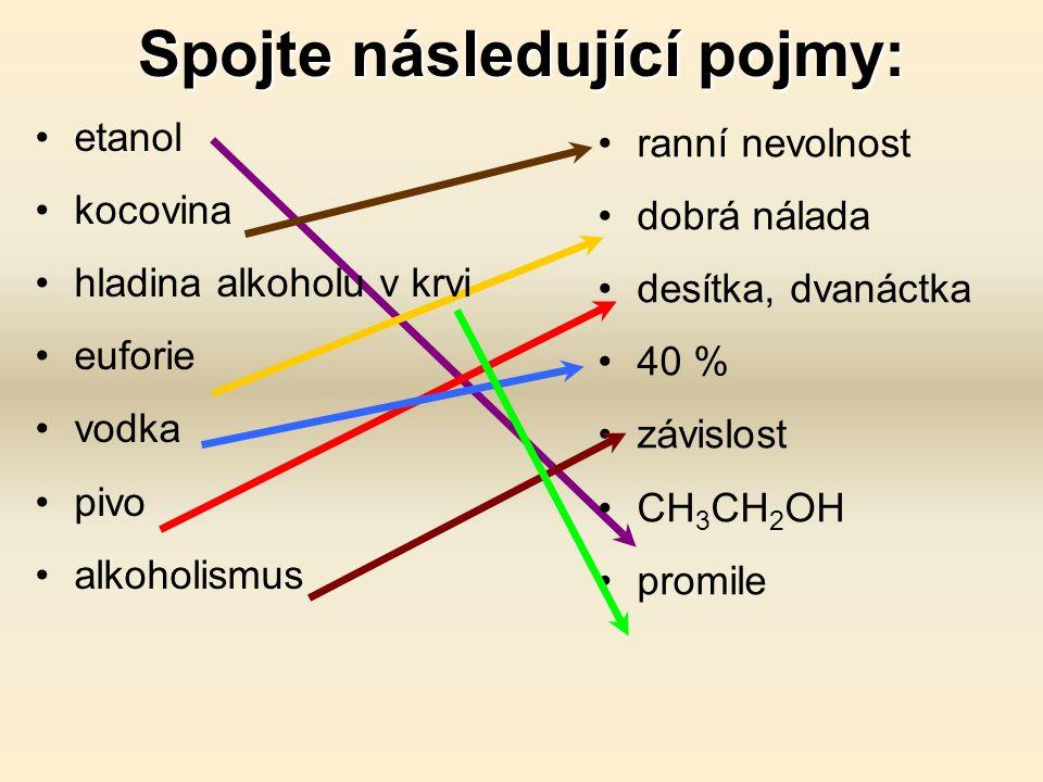 Alkohol Konzumace způsobuje závislost.Alkoholické nápoje obsahují etanol – způsobuje návyk.