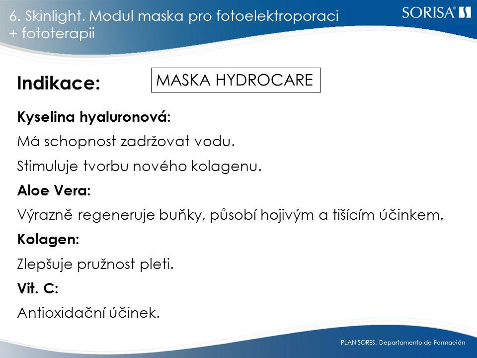PLAN SORES.Departamento de Formación Kyselina hyaluronová: Má schopnost zadržovat vodu.