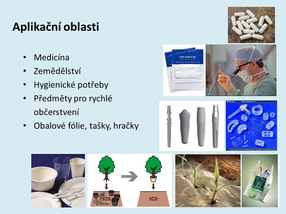 Aplikační oblasti Medicína Zemědělství Hygienické potřeby Předměty pro rychlé občerstvení Obalové fólie, tašky, hračky 17