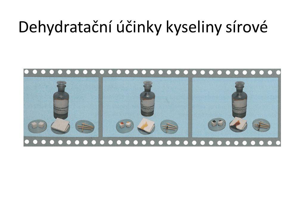 Dehydratační účinky kyseliny sírové