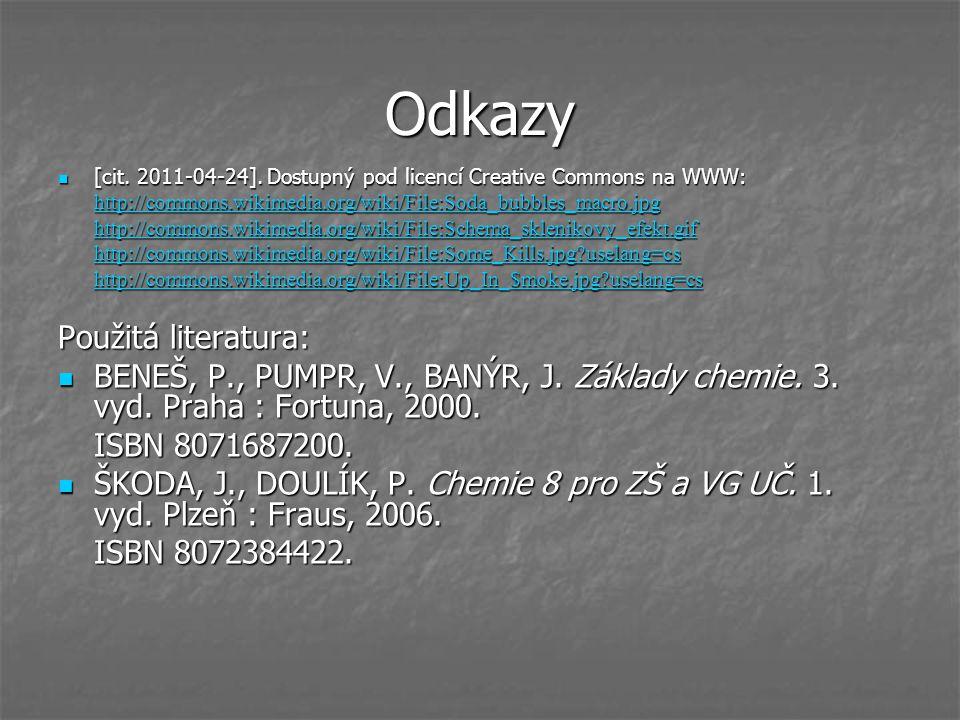 Odkazy [cit. 2011-04-24]. Dostupný pod licencí Creative Commons na WWW: [cit. 2011-04-24]. Dostupný pod licencí Creative Commons na WWW: http://common