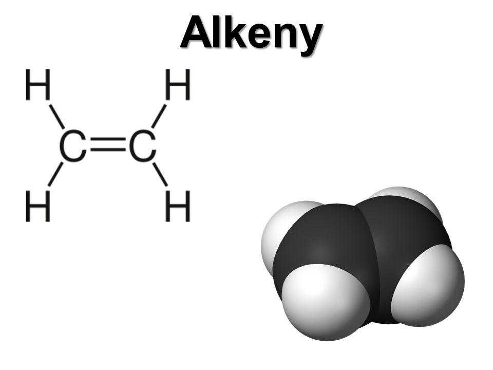Alkeny Alkeny jsou uhlovodíky obsahující v otevřeném řetězci jednu dvojnou vazbu.