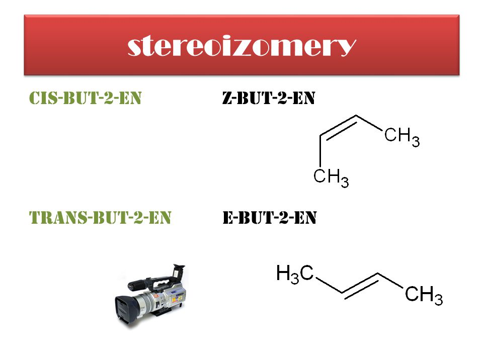 stereoizomery cis-but-2-enZ-but-2-en trans-but-2-enE-but-2-en