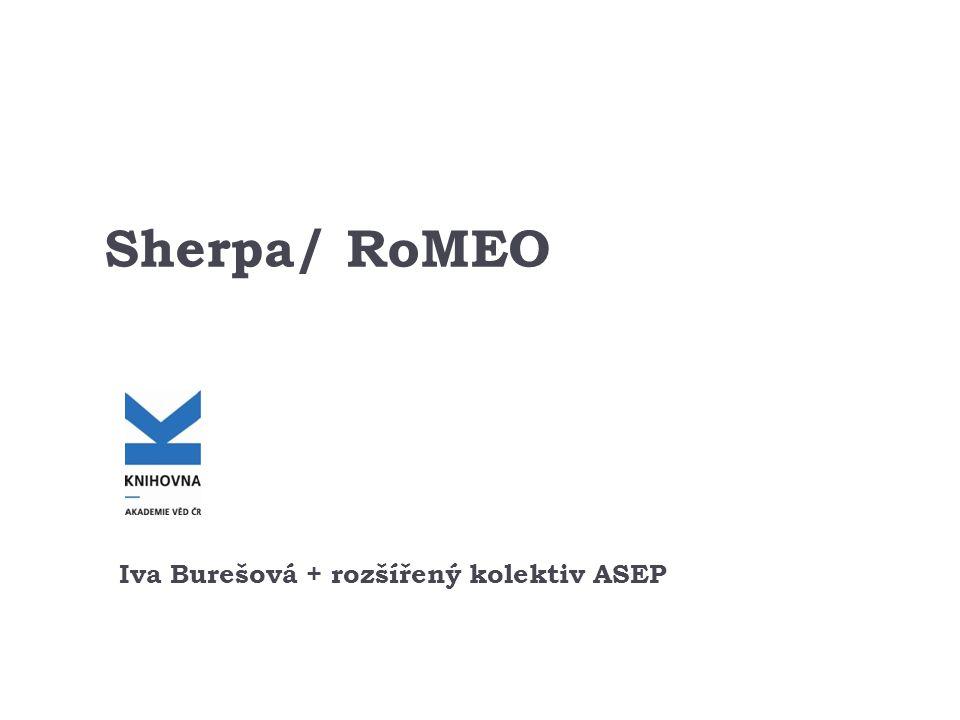 Sherpa/ RoMEO Iva Burešová + rozšířený kolektiv ASEP
