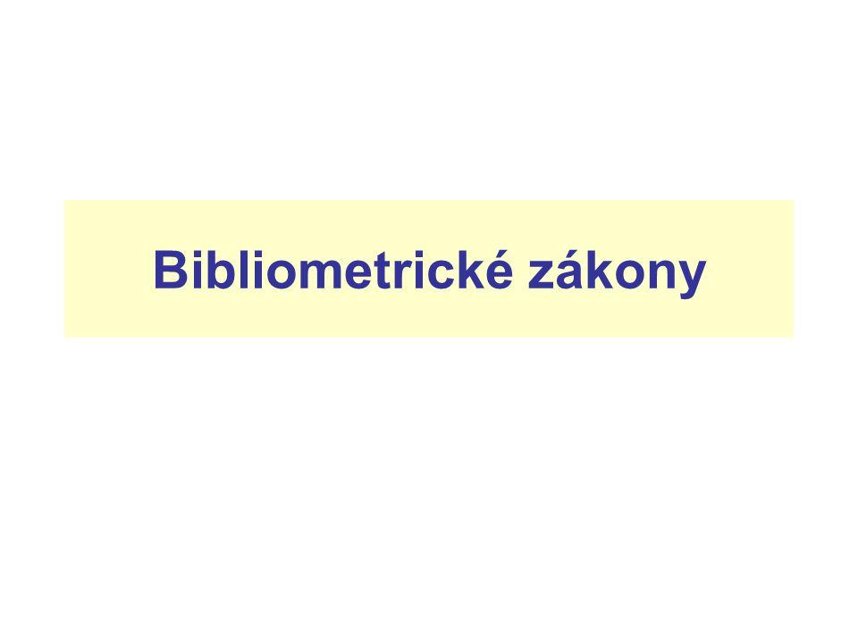 Bibliometrické zákony