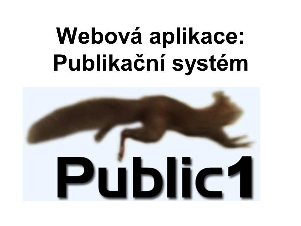 Webová aplikace: Publikační systém