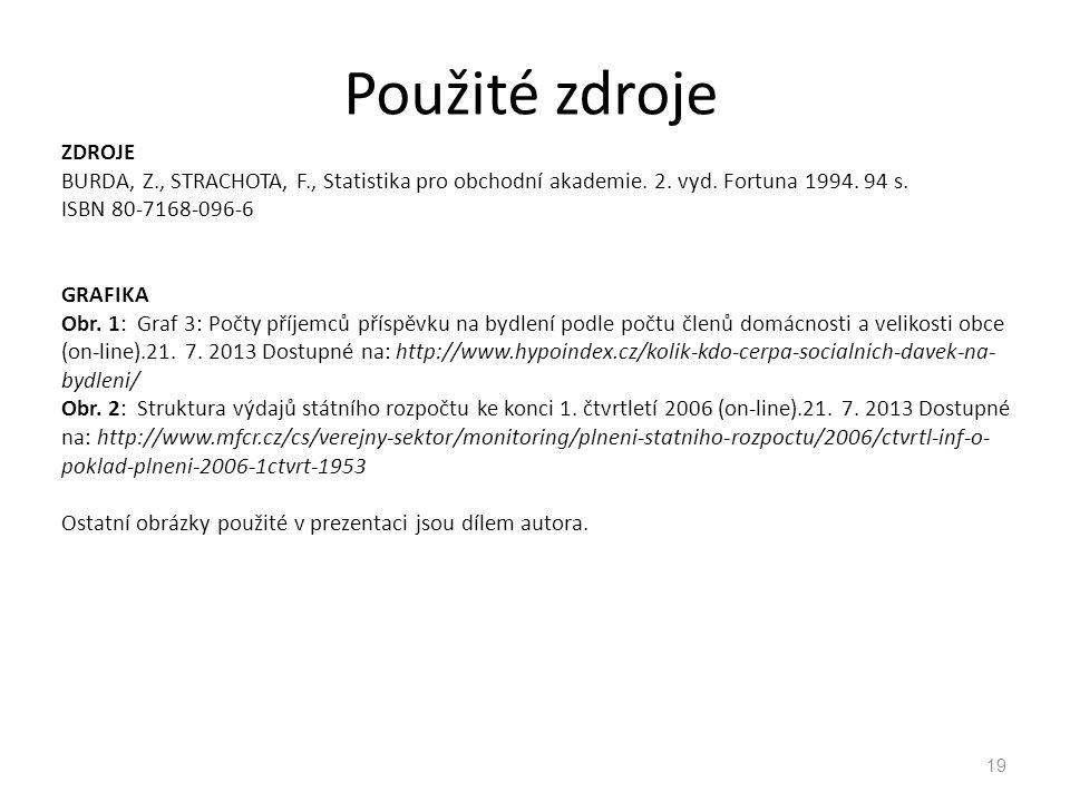 ZDROJE BURDA, Z., STRACHOTA, F., Statistika pro obchodní akademie. 2. vyd. Fortuna 1994. 94 s. ISBN 80-7168-096-6 GRAFIKA Obr. 1: Graf 3: Počty příjem