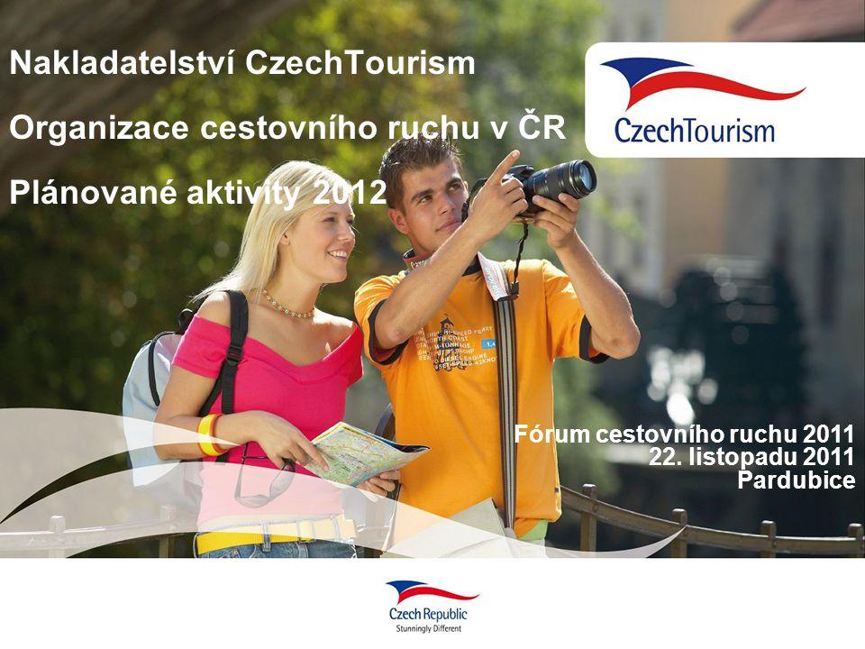 Nakladatelství CzechTourism Organizace cestovního ruchu v ČR Plánované aktivity 2012 Fórum cestovního ruchu 2011 22. listopadu 2011 Pardubice