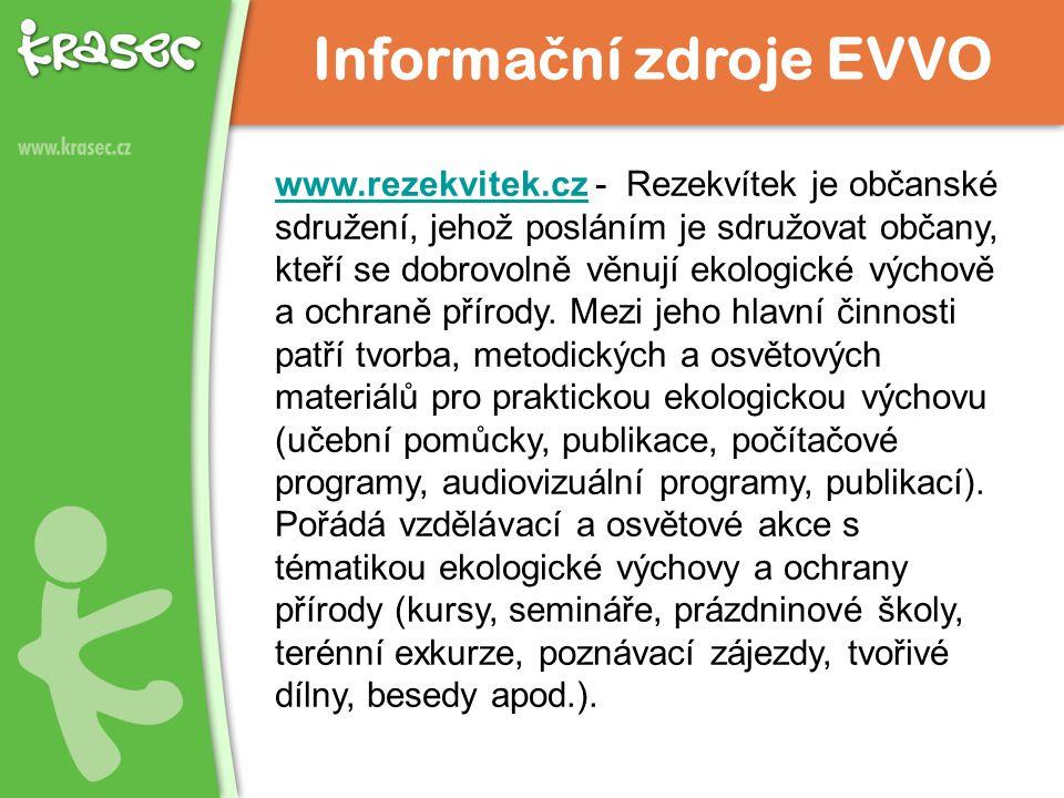 www.rezekvitek.czwww.rezekvitek.cz - Rezekvítek je občanské sdružení, jehož posláním je sdružovat občany, kteří se dobrovolně věnují ekologické výchov