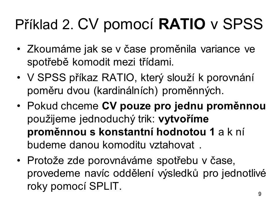 30 V SPSS: Syntax + Skript SORT CASES BY pohlavi.SPLIT FILE SEPARATE BY pohlavi.