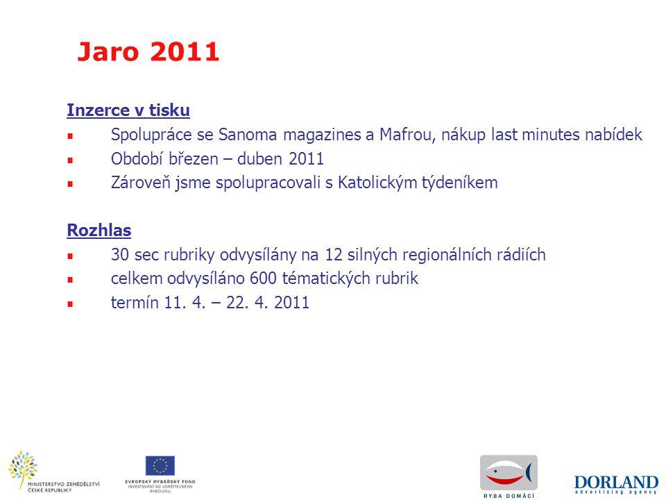 Inzerce v tisku ■ Spolupráce se Sanoma magazines a Mafrou, nákup last minutes nabídek ■ Období březen – duben 2011 ■ Zároveň jsme spolupracovali s Kat