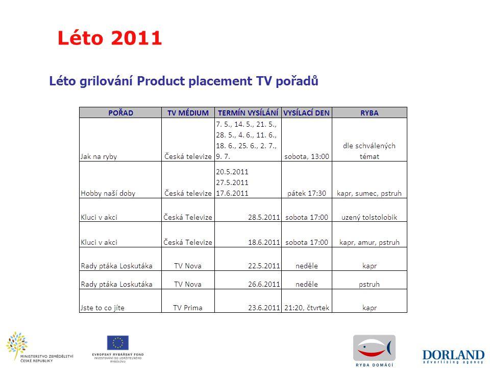 Léto grilování Product placement TV pořadů Léto 2011