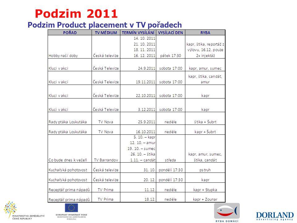Podzim Product placement v TV pořadech Podzim 2011