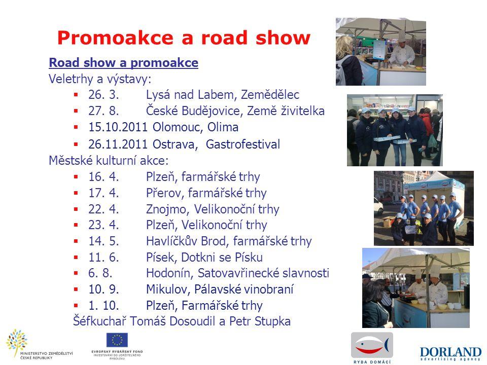 Road show a promoakce Veletrhy a výstavy:  26. 3. Lysá nad Labem, Zemědělec  27. 8. České Budějovice, Země živitelka  15.10.2011 Olomouc, Olima  2