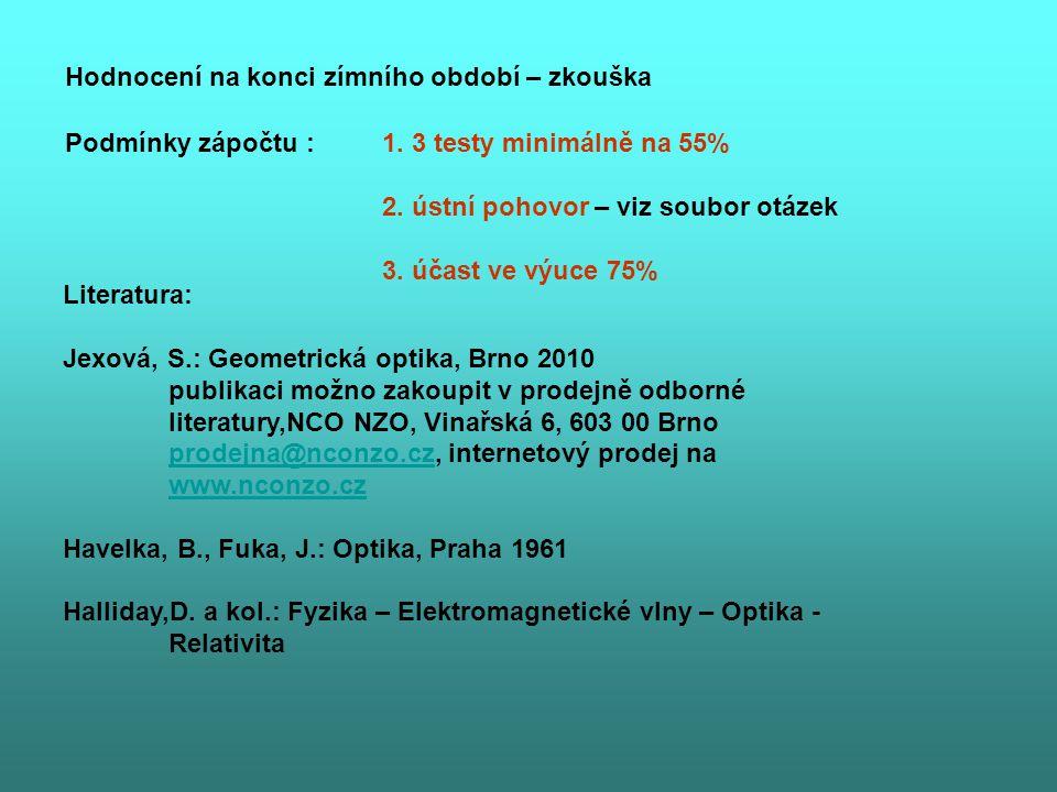 1.Jednoduchá čočka - odvození Gullstrandovy rovnice.