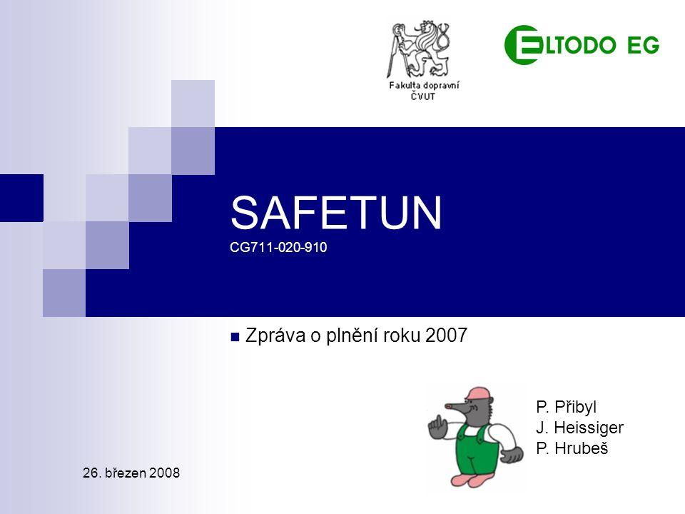 SAFETUN CG711-020-910 Zpráva o plnění roku 2007 P. Přibyl J. Heissiger P. Hrubeš 26. březen 2008